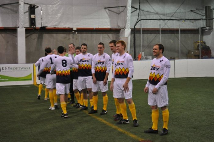 The 2010-11 Stars take the pitch in Wenatchee. Vitale Bulala (far right) is also on the 2014-15 WISL Stars. (Fire Facebook)